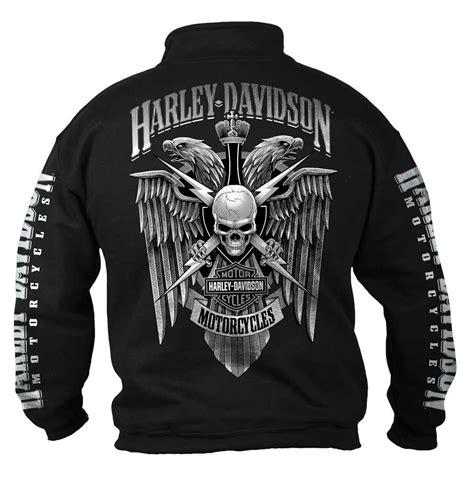 Vest Zipper Hoodie Harley Davidson 4 harley davidson s lightning crest 1 4 zip cadet