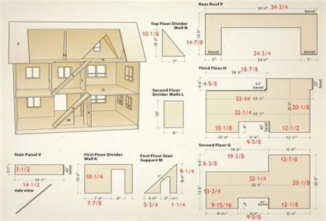 doll house plan free download country doll house free dollhouse 3