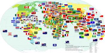 world map with country name and flag herald magazine embl 232 mes pays