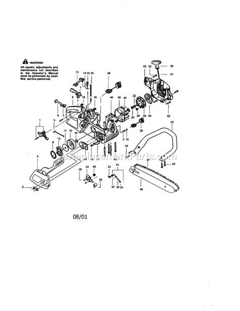 fuel line diagram for craftsman chainsaw craftsman 358350370 parts list and diagram