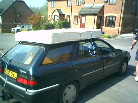 mattress on car roof april 14th 2007 steve moving my