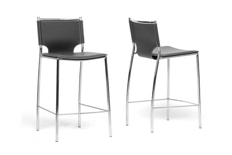 bar stools in chicago baxton studio montclare black leather modern counter stool