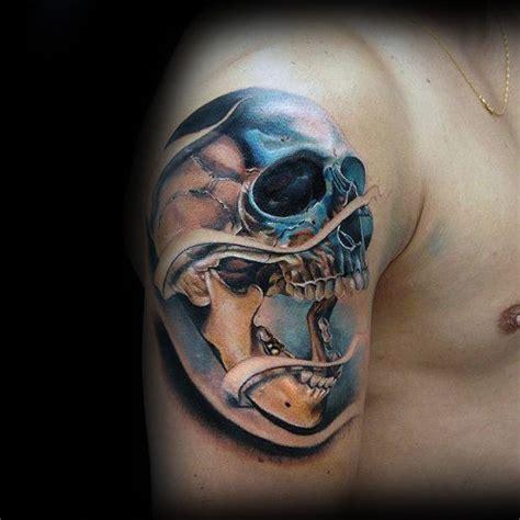 50 realistic skull tattoos for men masculine design ideas
