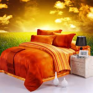 10 bright orange comforters and bedding sets