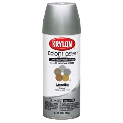 krylon colormaster aluminum spray paint walmart