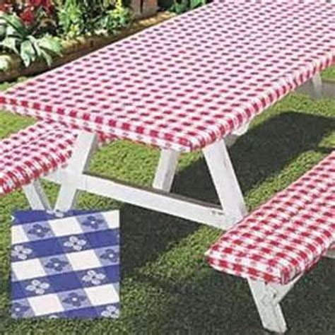 vinyl picnic table covers 1000 ideas about outdoor tablecloth on