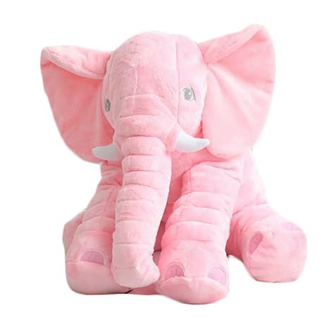 pink toy large pink elephant pillow cushion plush baby soft toy