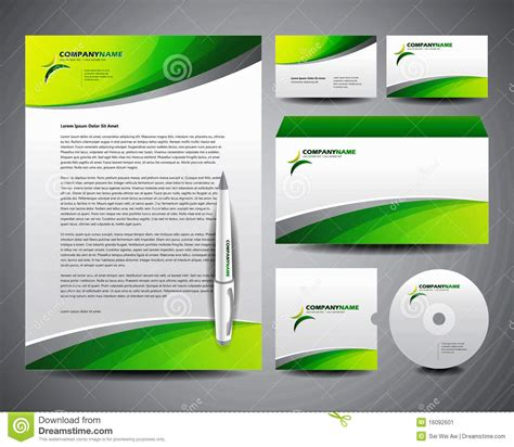 Stationery Business Card Templates by Business Stationery Template Green Stock Vector