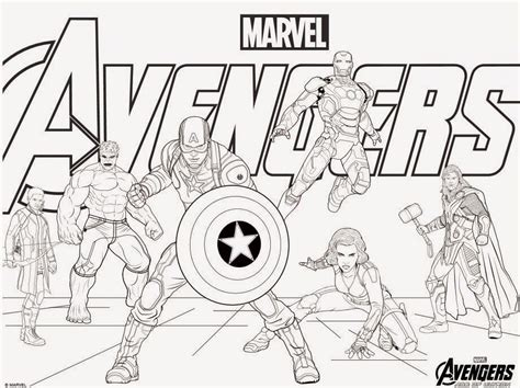 free coloring pages of avengers assemble
