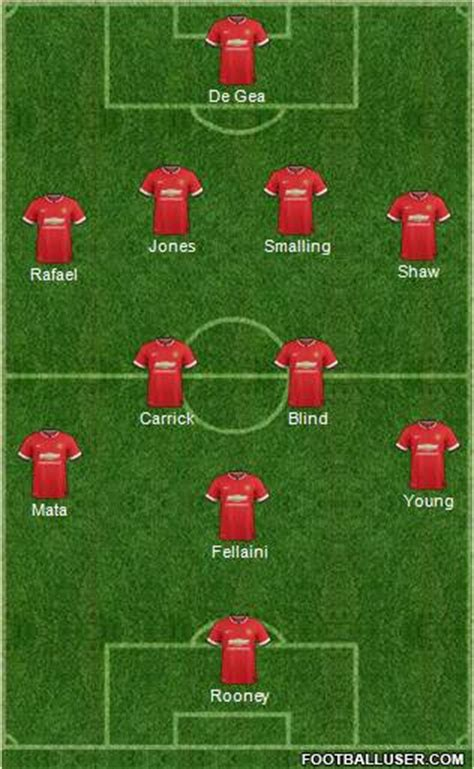 my personal manchester united xi gaal makes 4 changes predicted utd starting xi to