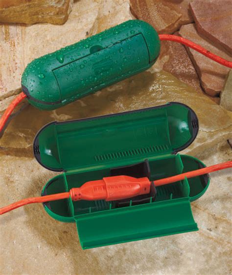 green set of 2 extension cord safety seals covers outdoor