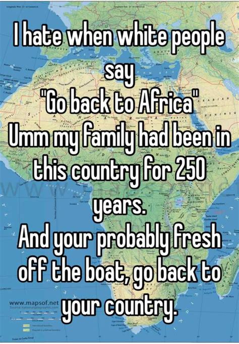 Back In Africa by I When White Say Quot Go Back To Africa Quot Umm My