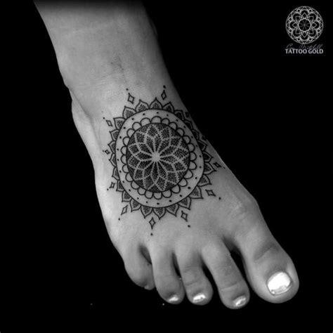 one piece foot tattoo dotwork mandala foot piece best tattoo ideas designs