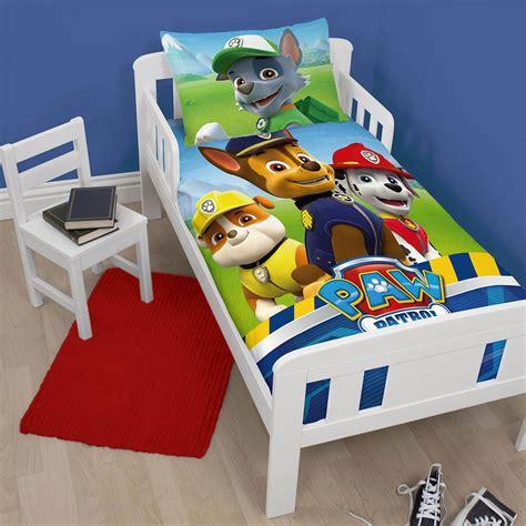 paw patrol bed paw patrol junior toddler cot bed duvet cover set new