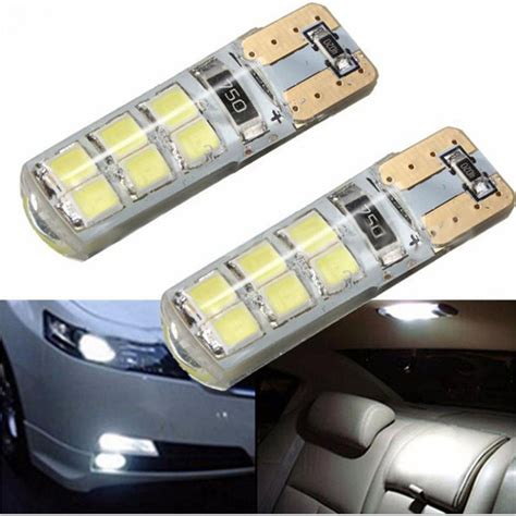 T10 15 Led Silicone Blitz 2x t10 w5w 12smd led canbus error free silicone bulb techparts
