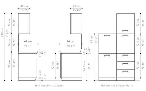 Standart Cabinetry Dimensions