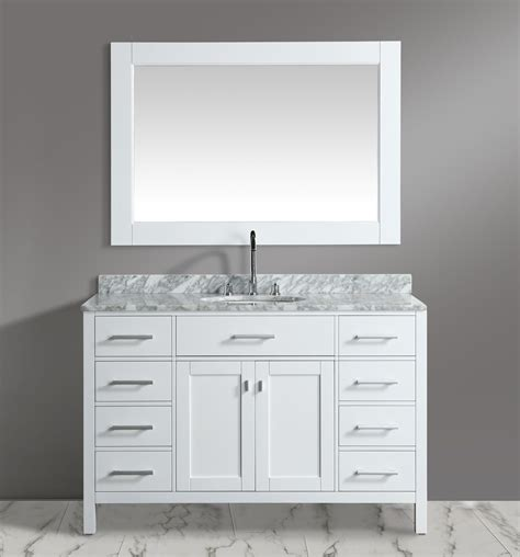 54 inch sink vanity 54 inch single sink bathroom vanity set white finish with