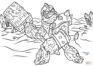 skylanders giants crusher coloring page free printable
