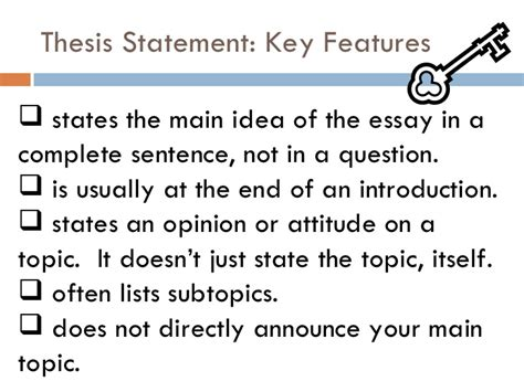 preliminary thesis statement exle preliminary thesis statement research paper