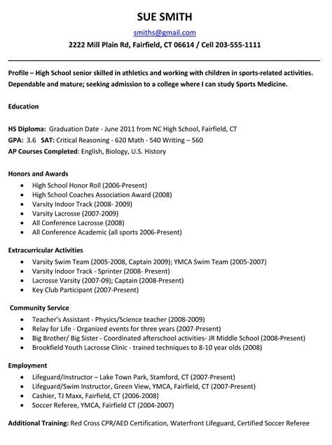 resume templates for high school students download objective for