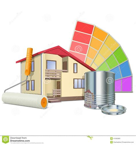 house painting images vector painting concept with house stock vector image