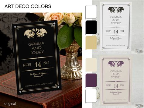 art deco colors going gatsby art deco wedding stationery ideastruly