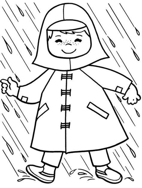 rain jacket coloring page cute rain coat for outer garment colouring pages picolour