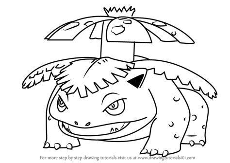 pokemon coloring pages venusaur step by step how to draw venusaur from pokemon go
