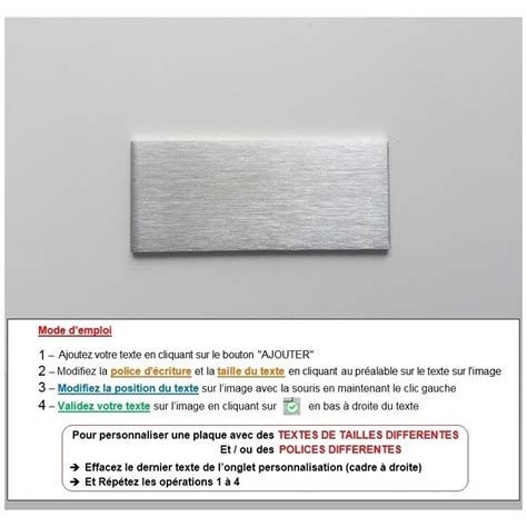 Boite Aux Lettres Signée 4219 by Plaque Inox 224 Personnaliser Gravure Laser 70x30mm