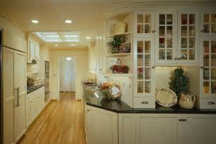 Galley Style Kitchen Design Ideas Kitchen Off White Country Style Galley Kitchen With