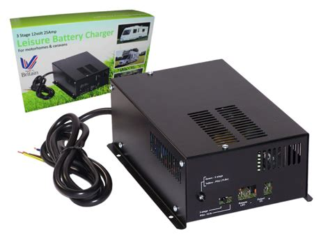 leisure battery charger rovert 3 stage leisure battery charger 12v 25a 12 volt