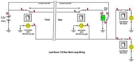 land rover defender light wiring diagram land rover