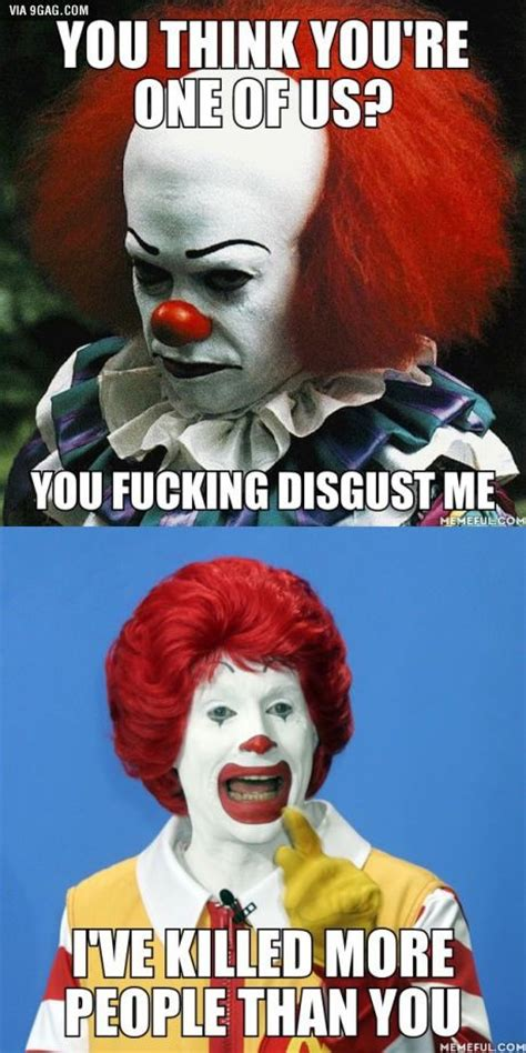 Funny Ronald Mcdonald Memes - pennywise vs ronald mcdonald the ugly truth pinterest