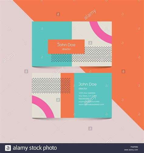 retro 80 s card templates business card template with abstract retro 80s background