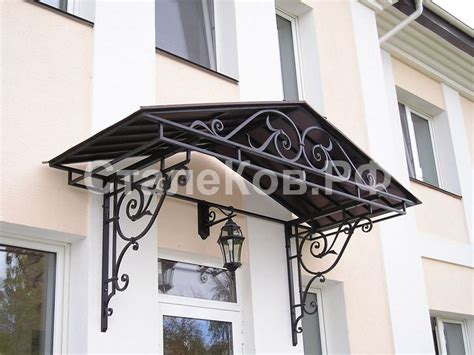 wrought iron awning brackets кованые козырьки wrought iron canopy for doors and