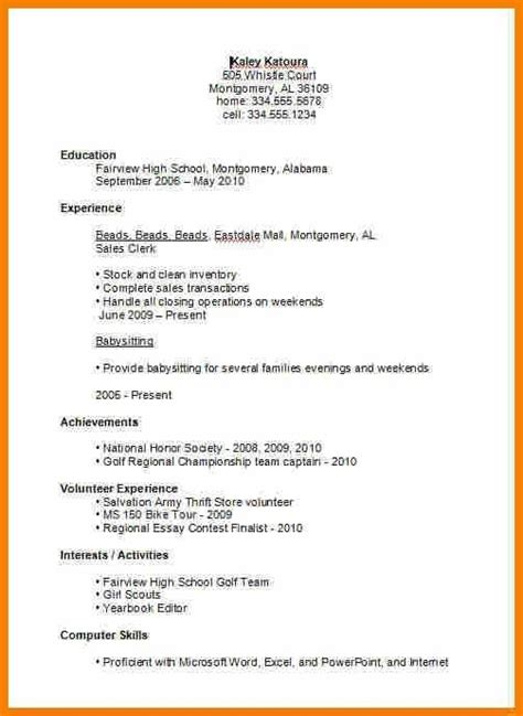 high school student resume exles best