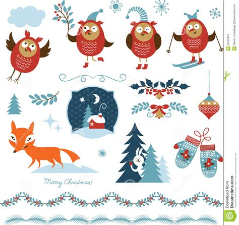 graphic design elements royalty free stock photos image set of christmas graphic elements royalty free stock