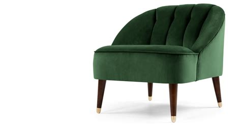 made com armchair accent chair in forest green velvet margot made com