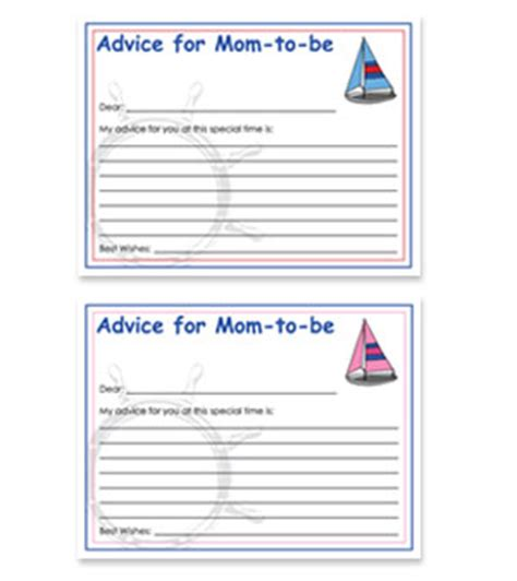 to be advice cards template free printable baby shower advice cards