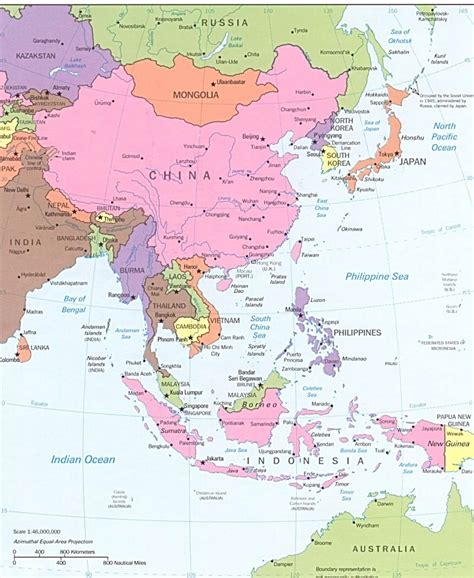 labelled map of asia asia map labeled foto 2017