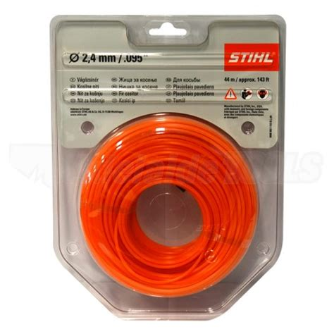 Magnetic Trimmer Orange stihl trimmer line 2 4mm 095 x 44m orange