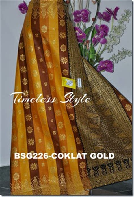 Set Ys Hitam salam borneo batik sarawak songket gold terkini 2