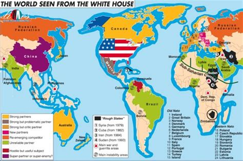 map us allies the world seen from the white house heartland limes