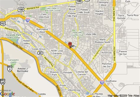 city map of el paso texas map of ramada suites el paso tx el paso