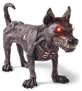 Dog Halloween Decorations Standing Halloween Zombie Dog Halloween Decorations And