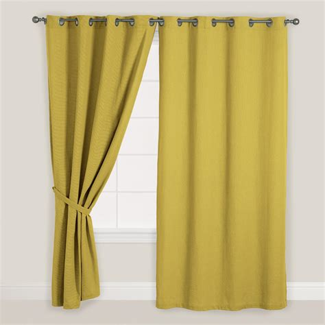 Olive Green Curtains Drapes Olive Green Bori Cotton Grommet Top Curtain World Market