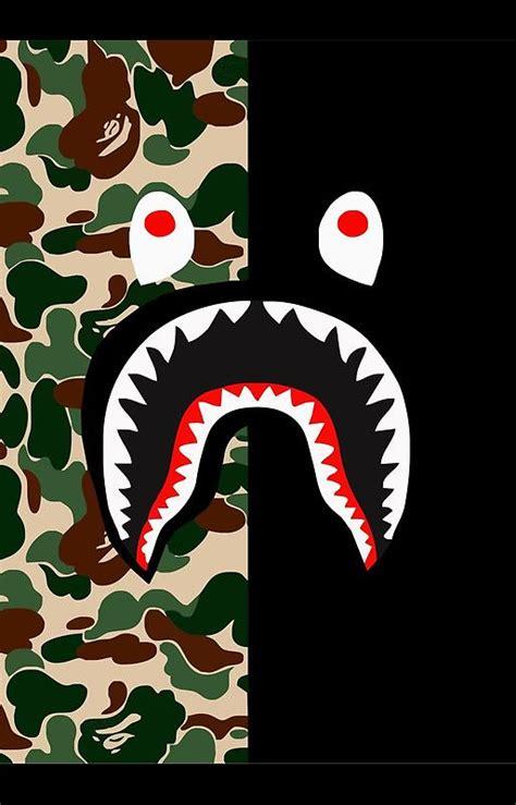 Iphone 6 6s Bape Shark Blue Pattern Black Hardcase best 25 supreme logo ideas on