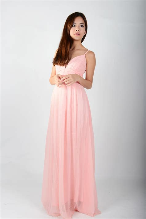 pink maxi dress dressed up