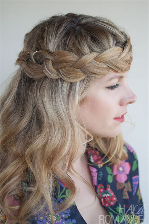 crown braid short hair hairstyles romantic crown braid for long hair perfect braid crown