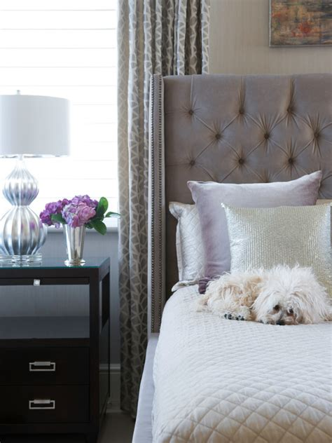 Grey Velvet Headboard Gray Velvet Tufted Headboard Contemporary Bedroom Susan Glick Interiors